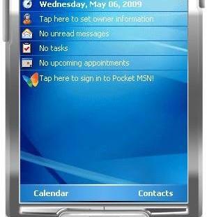 Windows Mobile 5.0 Macallan (fin 2004) : l'interface de Windows Mobile était pensée pour la productivité bureautique et rien d'autre