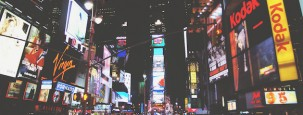 Une photographie de Time Square, envahi par la publicité