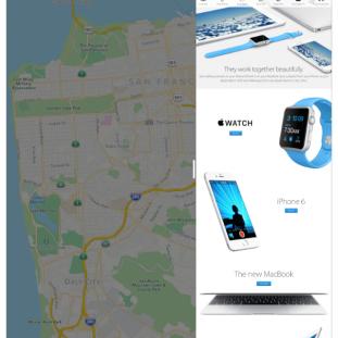 Slide Over : navigation