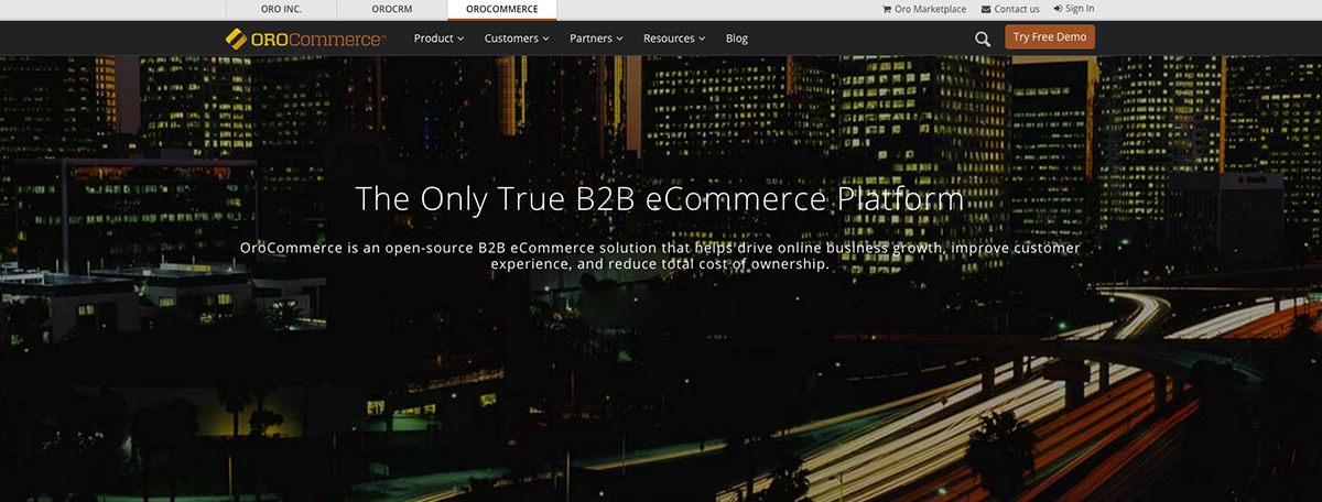 OroCommerce, an eCommerce solution designed for B2B