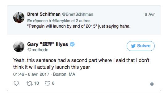 Tweet de Gary Illyes chez Google