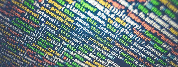 Capture d'écran d'un code de programmation web