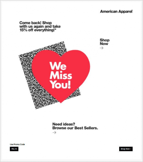 Reactivation automation American Apparel