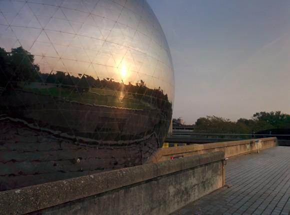 La Géode, Cité des Sciences et de l'Industrie à Paris.