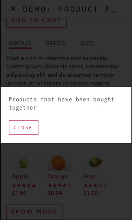AMP component: modal window