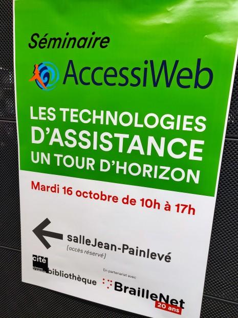 Affiche du séminaire AccessiWeb