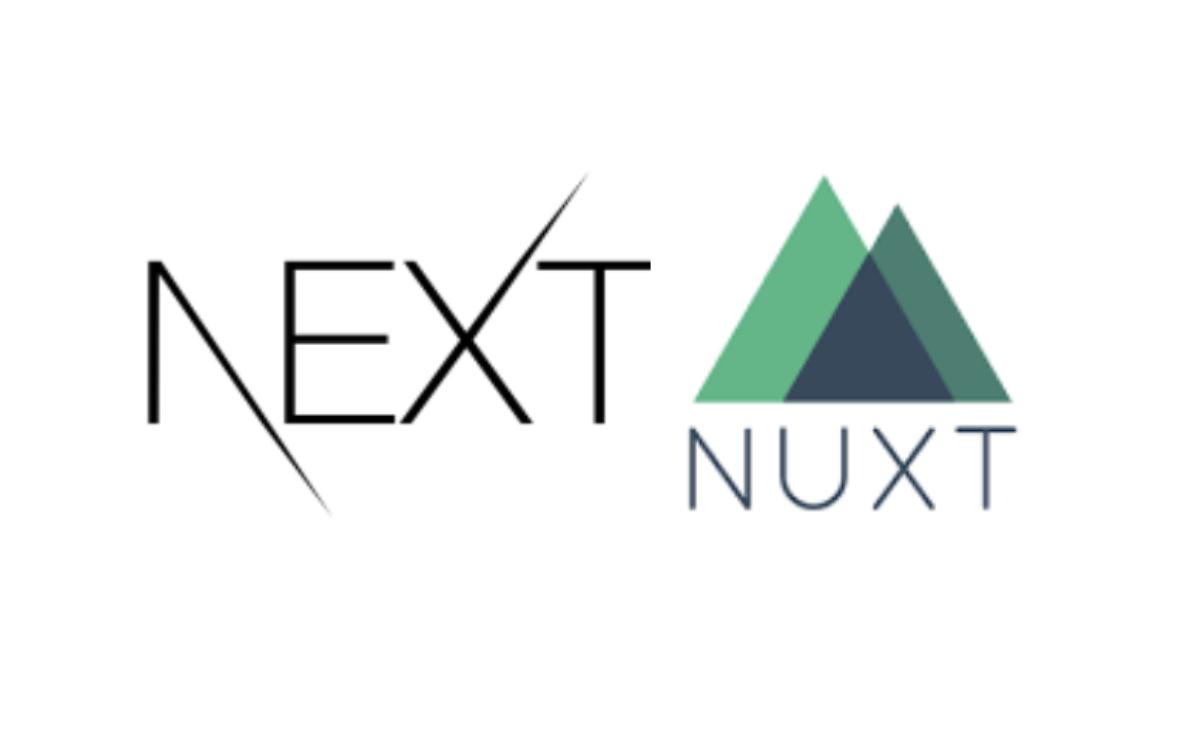 Logos Next.js et Nuxt.js