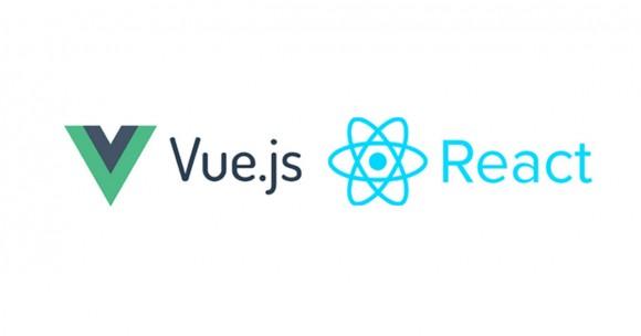 Logos Vue.js et React.js