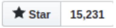 """Nombre de """"stars"""" sur github pour Next.js avec le chiffre de 15 231"""