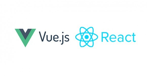 Logo Vue.js and React